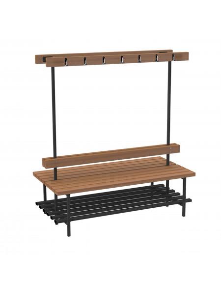 Скамья для раздевалок с вешалкой (двусторонняя) 2 м