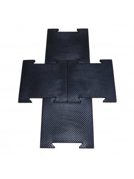Коврик резиновый, черный, 500x500x25 мм.