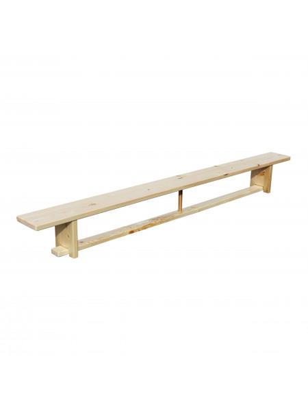 Скамья гимнастическая 2,8 м на деревянных ножках