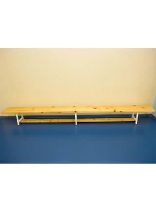 Скамья гимнастическая 2,8 м на металлических ножках