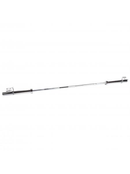 Гриф для штанги , D-50, L2200, гладкая втулка, до 500 кг, замки-пружины