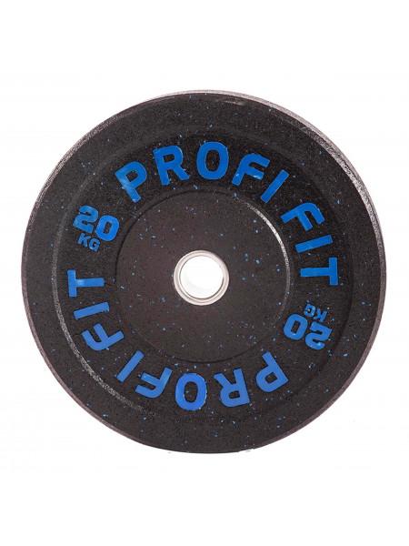 Диск для штанги HI-TEMP с цветными вкраплениями, PROFI-FIT D-51, 20 кг