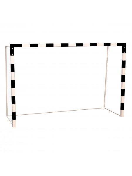Ворота для мини-футбола, гандбола с разметкой, профиль 80х80 мм (без сетки)