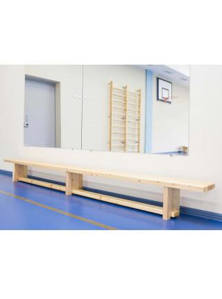 Скамья гимнастическая 4,0 м на деревянных ножках