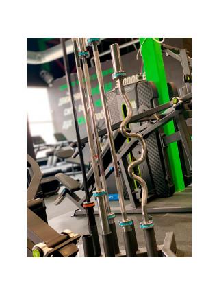 Гриф для пауэрлифтинга , D-50, L2200, гладкая втулка, до 680 кг, замки-пружины