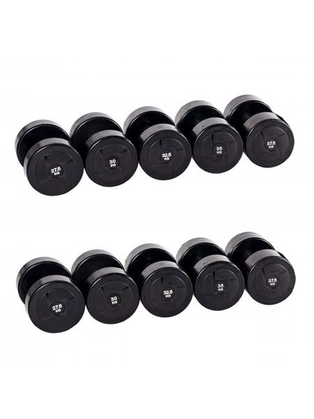 Гантельный ряд PROFI-FIT POWER 27,5 кг - 37,5 кг (5 пар), шаг 2,5 кг