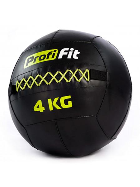 Медицинбол набивной (Wallball) PROFI-FIT, 4 кг