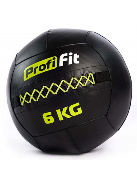 Медицинбол набивной (Wallball) PROFI-FIT, 6 кг