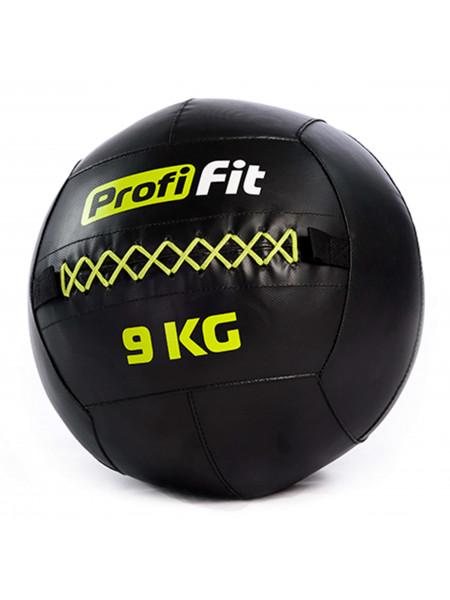 Медицинбол набивной (Wallball) PROFI-FIT, 9 кг
