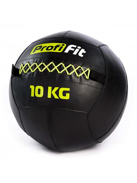 Медицинбол набивной (Wallball) PROFI-FIT, 10 кг