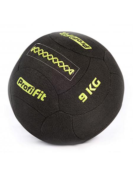 Медицинбол набивной кевларовый PROFI-FIT, (Kevlar Wallball) 9 кг