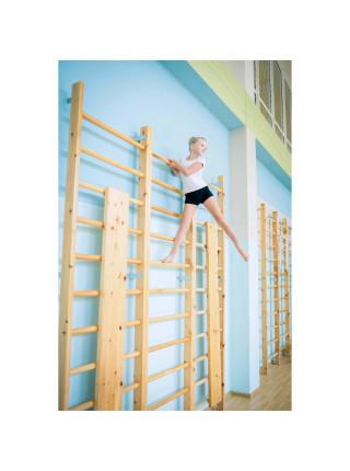 Стенка шведская, гимнастическая 2,35х0,6 м, перекладина д.32мм (массив 80 мм)