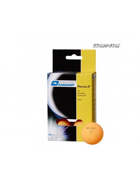 Мячики для н/тенниса DONIC PRESTIGE 2, 6 штук, оранжевый