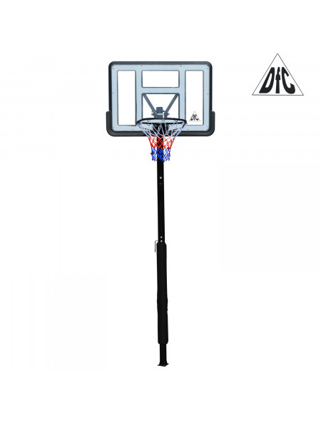 Баскетбольная стационарная стойка DFC ING44P1 112x75cm акрил винт. рег-ка (три короба)