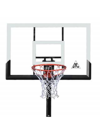 Баскетбольная мобильная стойка DFC STAND52P 132x80cm поликарбонат раздижн. рег-ка (два короба)