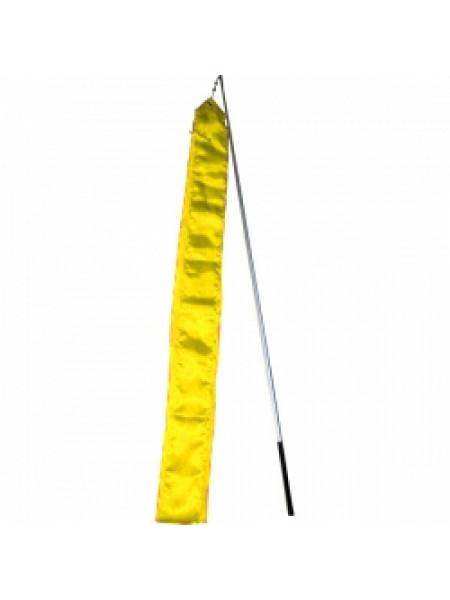 Палочка и лента гимнастическая (желтая)