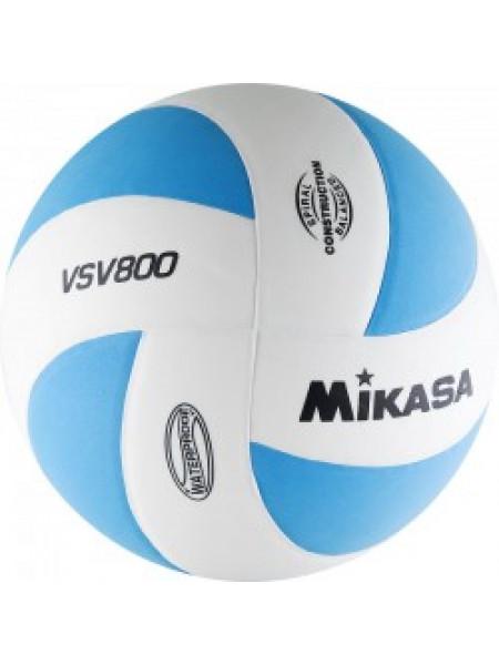"Мяч вол. ""MIKASA VSV800 WB"", р.5, синт.пена ТПЕ, клеен,8 пан,бут.кам,бело-голубой"