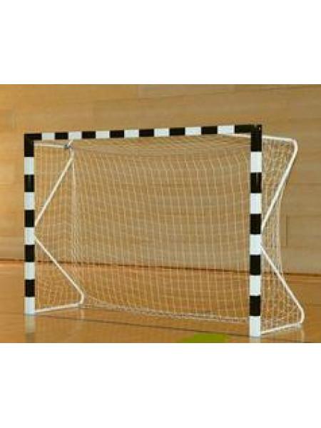 Сетка для мини футбола/гандбола Размер: 3,00х2,00х1,00х1,50 м  Ячейка: 100 мм  Толщина нити: 2,6 мм