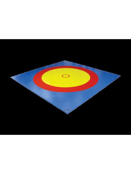 Покрытие для борцовского ковра трехцветное