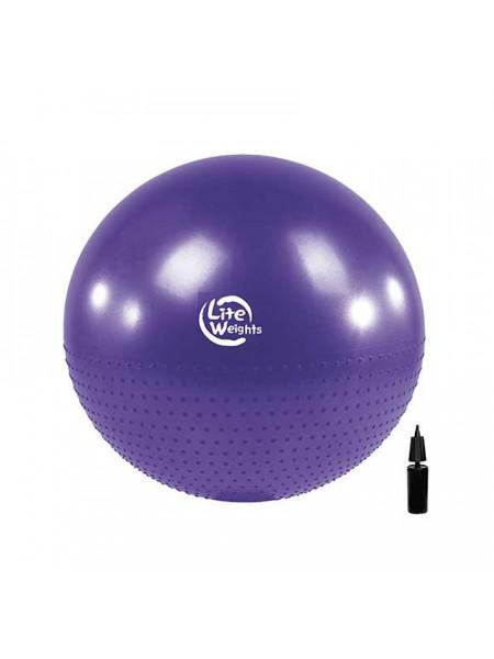 Мяч гимнастический + массажный д 75 см