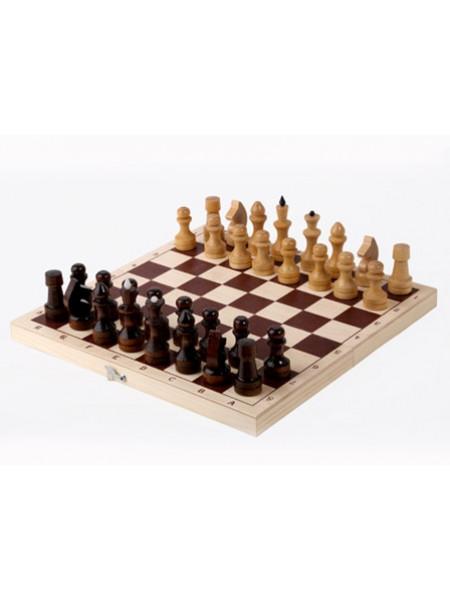 Шахматы  лакированные обиходные с доской