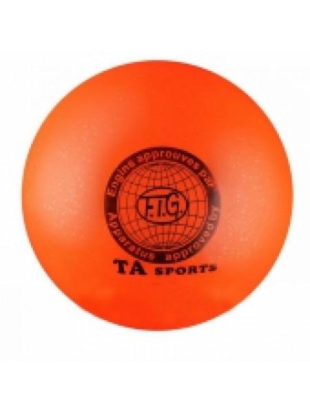 Мяч для художественной гимнастики С БЛЁСТКАМИ TA sports, d 19 см