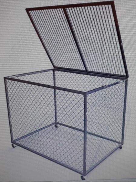 Корзина для хранения мячей передвижная металлическая