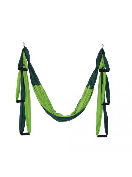 Гамак для йоги YJ-001 (с креплением) зеленый